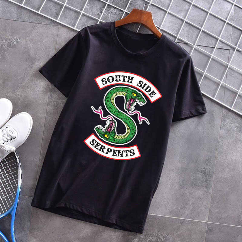 New Arrivals Riverdale South Side Serpents Vogue T Shirt Funny Van Gogh Michelangelo Angel Shirt Kawaii Pulp Fiction Womens Tees