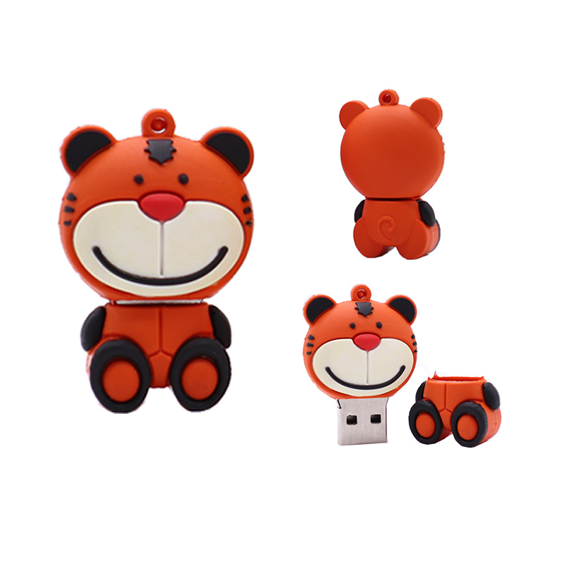 Pendrive cartoon Rabbit/Tiger/Cattle usb flash drive 4GB 8GB 16GB 32GB 64G memory stick u disk creative gift pen drive usb stick