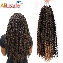 AliLeader Ombre Fluffy Kinky Curly Twist Braiding Hair Bulk 18