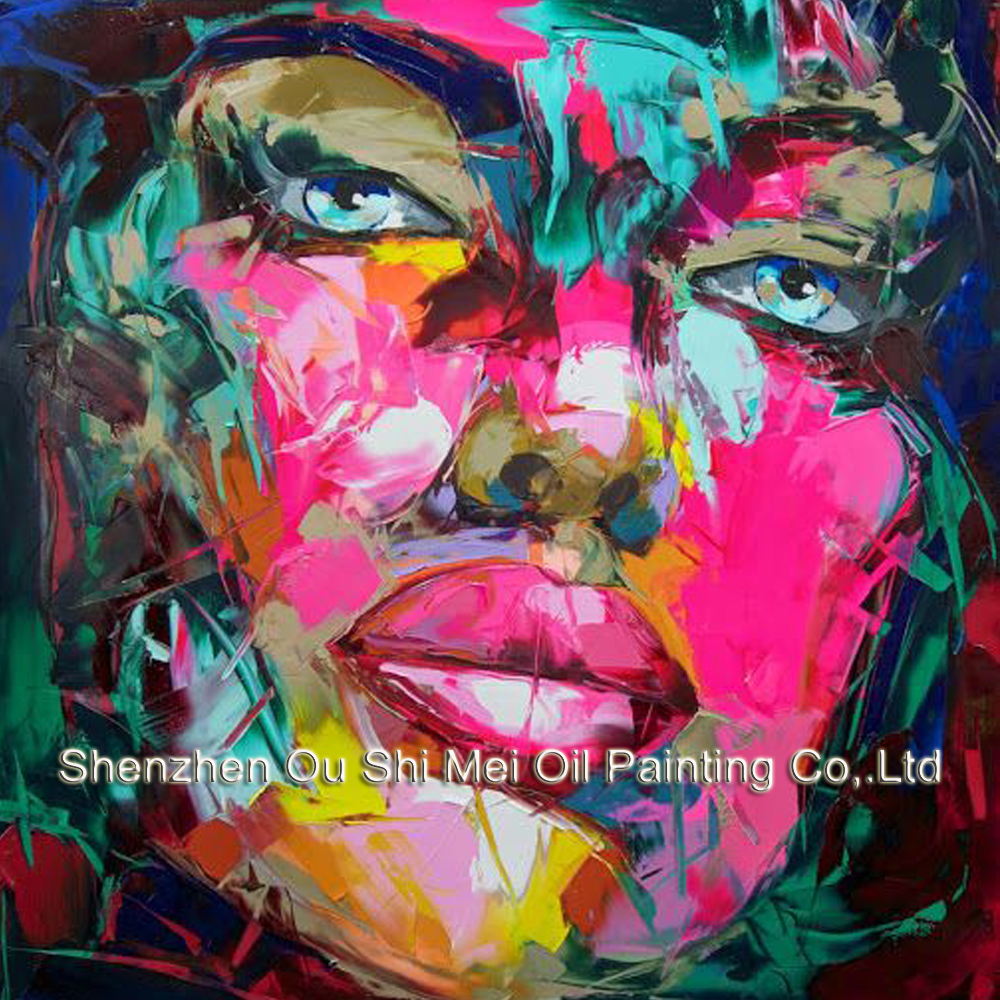 handmade oil painting woman face oil painting on canvas abstract colorful painting female face photo to canvas painting
