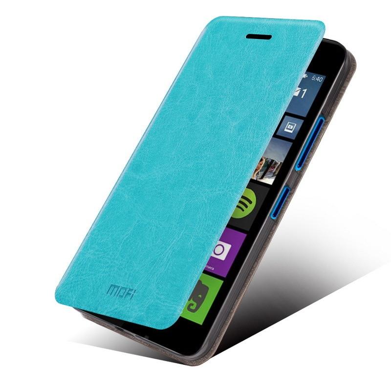 buy online 4e5e7 627ee US $6.66 |microsoft lumia 540 flip cover MOFI original Leather Case For  Microsoft Nokia Lumia 540 inner silicon soft funda back cover on ...