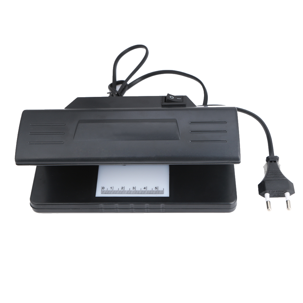 4W Ultraviolet UV Light Counterfeit Bill Detector Handheld Currency Money Dollar Detection Tester Machine with Led Blacklight