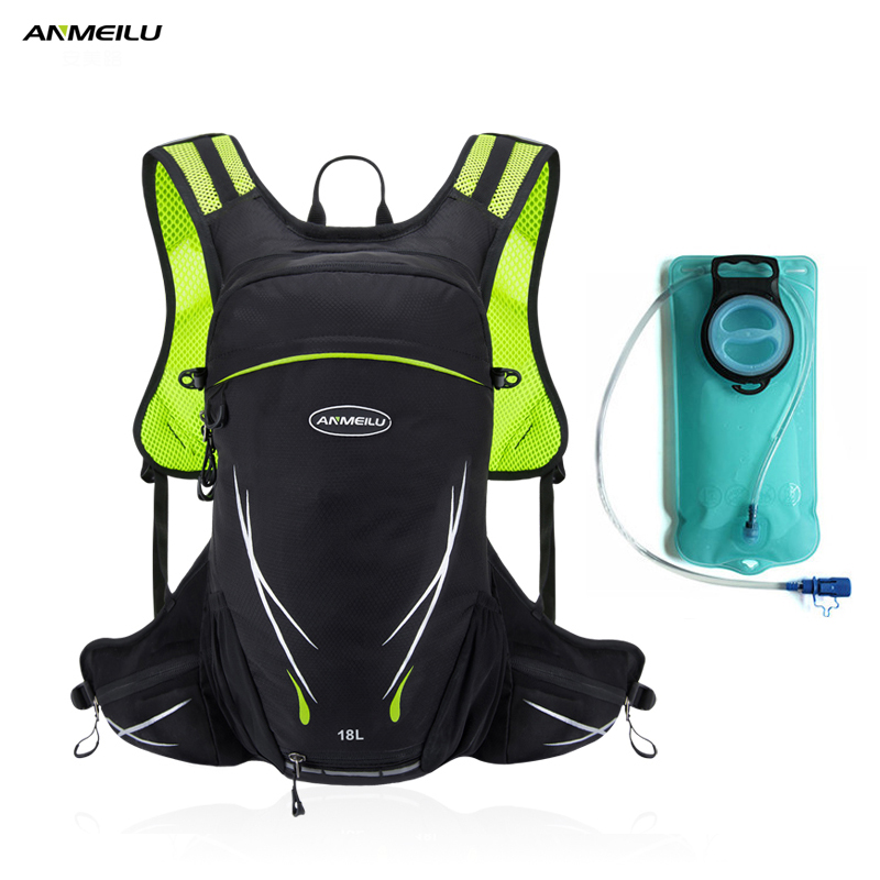 Anmeilu Water Bag Outdoor Sports 18L Cycling Backpack Hydration Bladder Backpack Climbing Bags Camelback Mochila Hidratacion anmeilu 18l cycling backpack waterproof sport bag mtb cycling hydration water bags outdoor climbing hiking rucksack bicycle bag