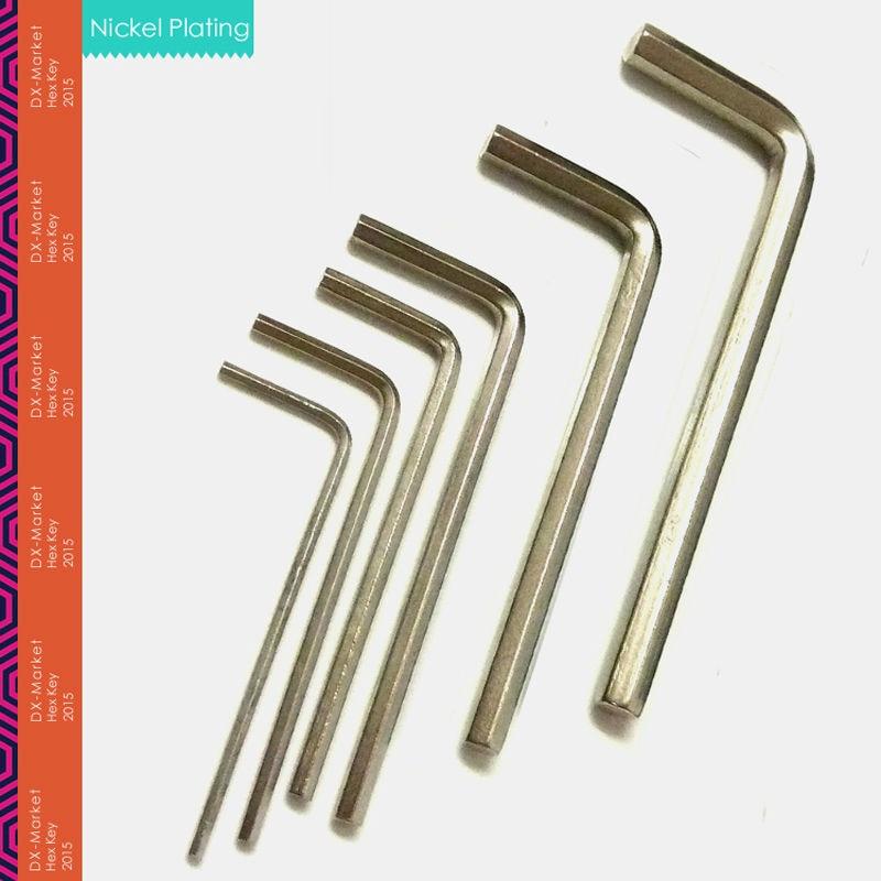 4 mm, 20 unids / lote, llave hexagonal de 4 mm, llave Allen 45 # - Herramientas manuales - foto 3