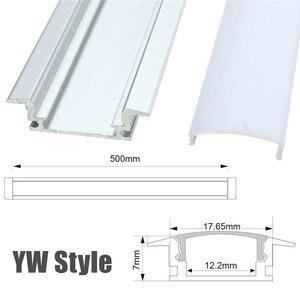 Image 4 - 30/50cm LED בר אורות אלומיניום ערוץ מחזיק חלב כיסוי בסופו תאורת אביזרי U/V/ י. ו. סגנון בצורת עבור LED רצועת אור