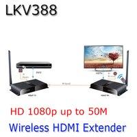 50 м/164ft 1080 P Беспроводной hdbitt HDMI удлинитель повторитель HD Беспроводной HDMI приемник передатчик продлить lkv388 HDMI удаленного сигнала