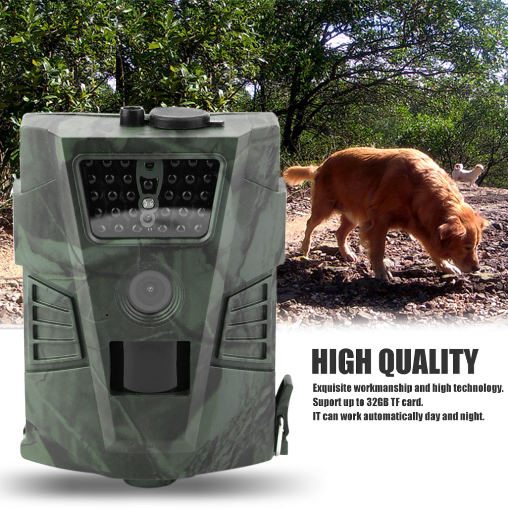 HT-001 12MP 60 Degrees Detection Angle Hunting Camera Outdoor Digital Hunting Trail Camera Without LCD Wildlife Cameras 720P