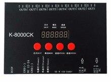 K 8000CK (T 8000 نسخة مطورة) ، وحدة تحكم بطاقة SD بكسل LED ؛ خارج الخط ؛ 8192 بكسل تسيطر عليها ؛ خرج إشارة SPI ؛