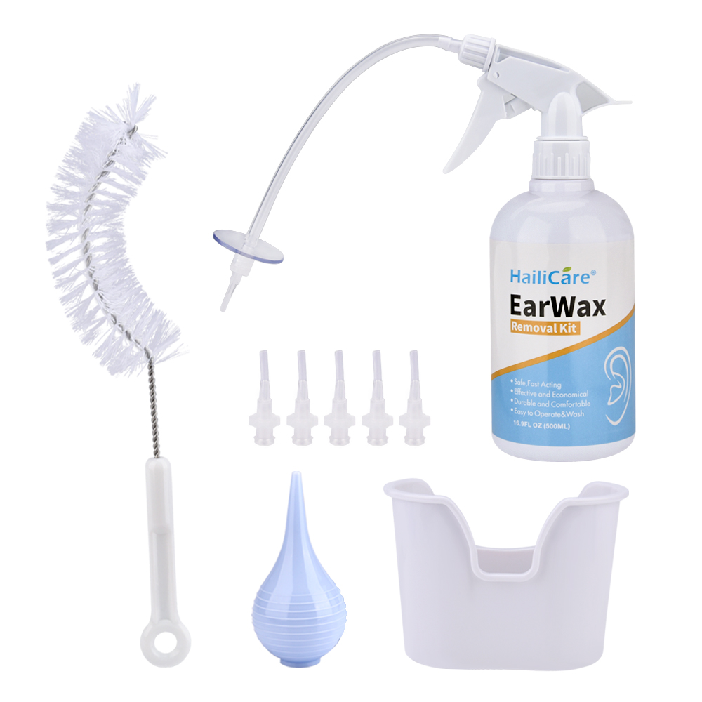 Ear Irrigation Cleaning Kit Premium Water Irrigation Ear Cleaner Ear Wax Removal Ear Washing Syringe Squeeze Bulb Ear Care Tools