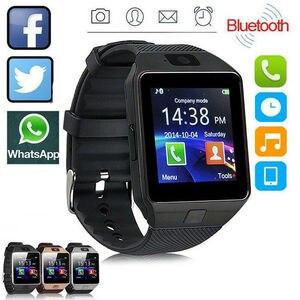 Смарт-часы DZ09 с камерой для телефона, SIM-картой, Bluetooth, Android, совместимы с Рождеством