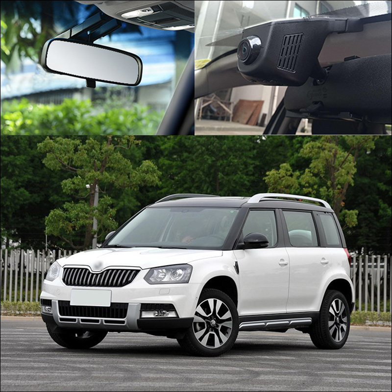 BigBigRoad For Skoda Yeti Car Wifi DVR Car Driving Video Recorder FHD 1080P night vision Car Dash Camera Car black box bigbigroad app control car wifi camera for mazda atenza car driving video recorder car black box g sensor no damage to car