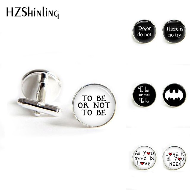 Hzshinling Quote Do Or Not There Is No Try Star Wars Cufflinks Encourage