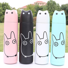 Carton Candy Colour Spot Warm Keep Cold Double Deck Vacuum Cup Leakage-Proof Lid Food Grade Tritan Outdoor Thermos Flask
