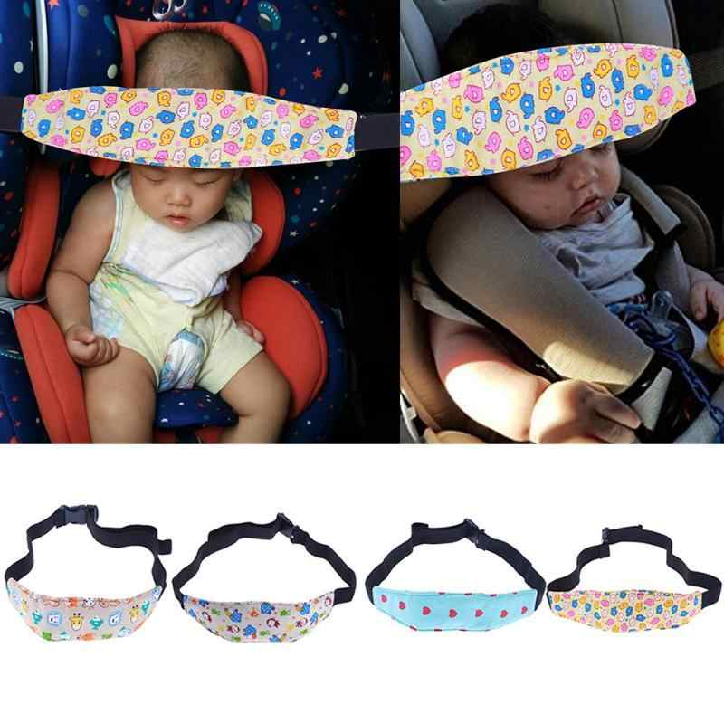 Adjustable Baby Safety Sleep Support Band Positioner Infants Kids Head Holder Pram Stroller Fastening Belt Auto Accessories