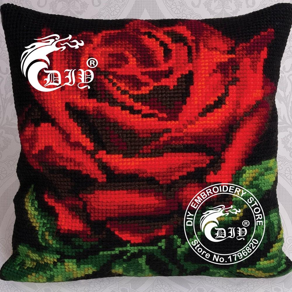 Online buy wholesale diy rose pillow from china
