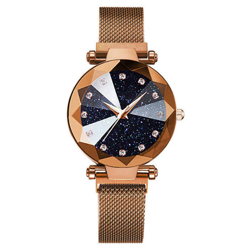 Charming Rose Gold <font><b>Women</b></font> <font><b>Watches</b></font> Minimalism Casual Starry Sky Lady Wristwatch Magnet buckle Fashion Luxury Brand Female <font><b>Watch</b></font> <font><b>G</b></font> image