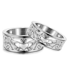Irish Claddagh Care Heart Forever Wedding Bridal Ring Size6-10 Stainless Steel Party Anniversary Birthday Gifts(China)