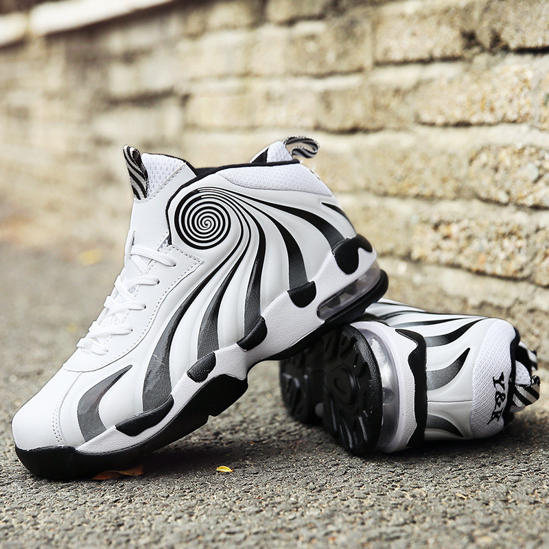 2019 men sports basketball shoes outdoor High-top air cushion sneakers for man vortex effect boys basketball boots basket homme Сникеры
