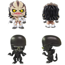 Lensple 4 Horror Movies Predator vs Aliens Vinyl Action Figure Toys Gift Model In Stock цена