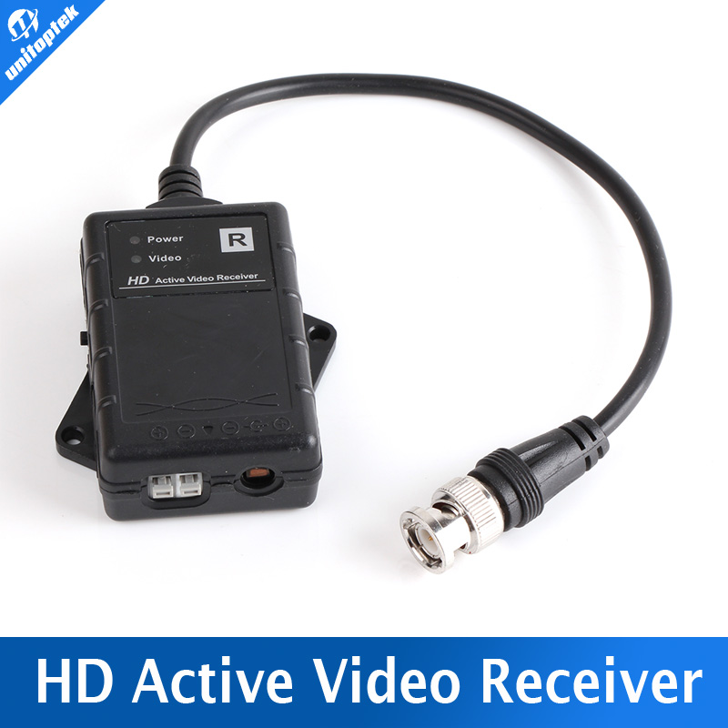 HD UTP Network Active Power Video Receiver Balun CAT.5e,CAT.6,CAT.6e,CAT.7 to Camera CCTV BNC support 720p AHD Camera UP To 500M
