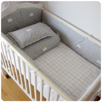 Promotion! 6/7PCS baby bedding set 100% cotton crib bed set baby bed linen boys baby cot jogo de cama , 120*60/120*70cm promotion 6 7pcs cot bedding set baby bedding set bumpers fitted sheet baby blanket 120 60 120 70cm