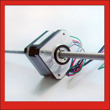 4-lead 1.8 degree NEMA 17 Frame 42mm Linear Stepper Motor with High Accuracy 130mm Length of Axle T6.35 Lead Screw Stepper