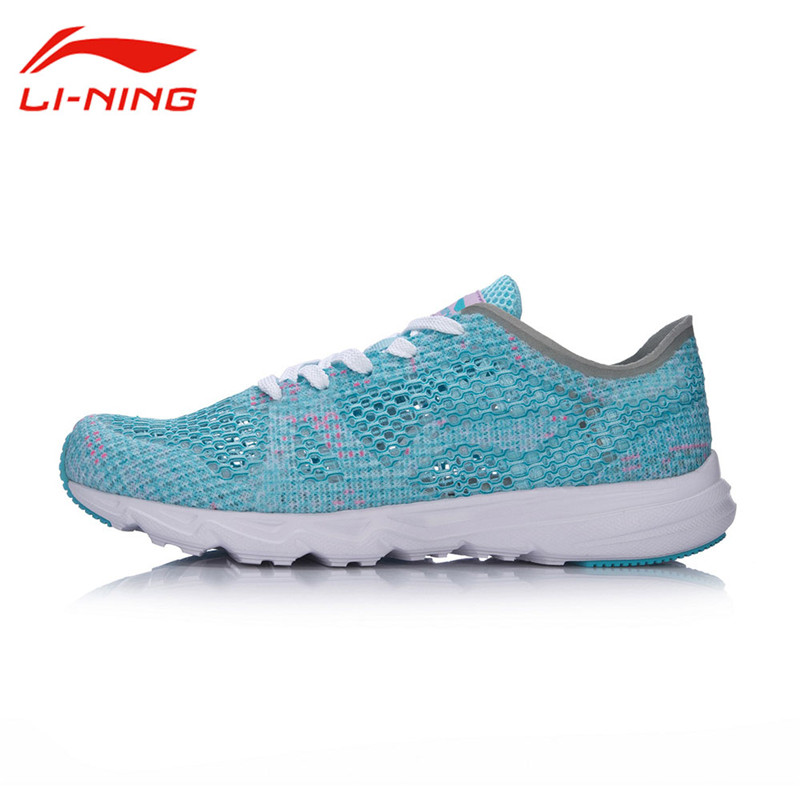 Li-Ning Original Women Candy Running Shoes Summer Mesh Breathable Light Weight Textile Breathable Sports Shoes Sneakers ARBM018 li ning women walking shoes light weight textile