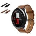 Negro correas de reloj de reemplazo de la venta caliente de alta calidad de la pu reloj de cuero correa de pulsera de banda para xiaomi huami amazfit a1602 correas