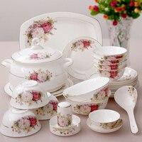 56 шт. чаша набор посуды комплект качество фарфора китайский стиль