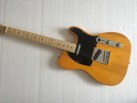 yellow colour MAPLE fretboard 6 string electric guitar Factory custom shop Free shipping