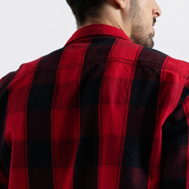 Men's Plaid Shirts Long Sleeve 100% Cotton Fashion Streetwear