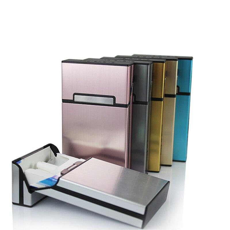 Новый ультра тонкий моды трубы творческая личность сигарету чехол тонкий металлический портсигар Алюминий Подарочная коробка мини мундшт... ...