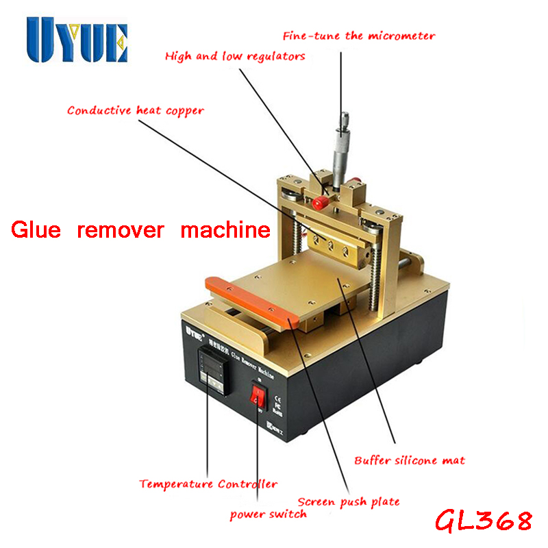 UYUE New  Glue Remover Machine For Various Models Mobile Phone LCD Touch Screen Glue Remove Machine GL368 new new mobile phone lcd for htc