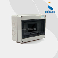 Saipwell IP65 Electrical Distribution Box Waterproof Cover Electrical Box Plastic 195*145*90mm HT 8ways Caixa Eletrica