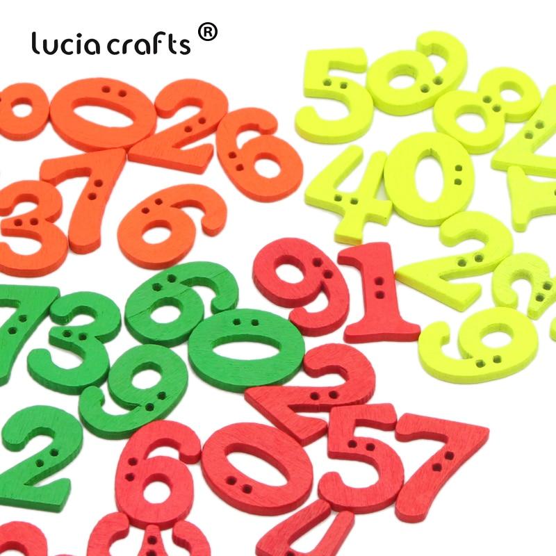 Lucia crafts 100 шт./лот 14-21 мм швейные пуговицы с цифровым рисунком с 2 отверстиями для рукоделия аксессуары для скрапбукинга одежды ручной работы ...