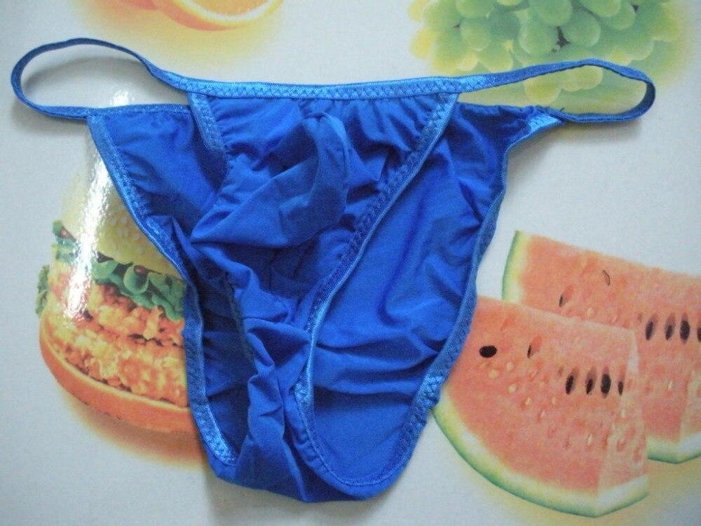 Groothandel 100 stks mannen korte Lage taille mannelijke slipje viscose vork zakken doorschijnend slipje slips voor mannen gay ondergoed - 4