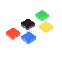 50 tampões táteis quadrados do botão dos pces para B3F-4055 12x12x7.3mm micro interruptor chave do tato para interruptores 12x12x7.3 de arduino 12*12*7.3mm