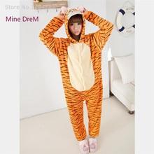 Kigurumi Jumping tiger onesies Pyjamas Cartoon Animal Cosplay Costume Pajamas adult Onesies Sleepwear Halloween