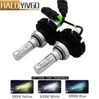 9006 HB4 LED Car Headlight Bulbs CSP Chip 12V 50W 6000LM For Car Led Headlights Fog Lights Auto Head Lamp Bulb 3000K 6500K 8000K