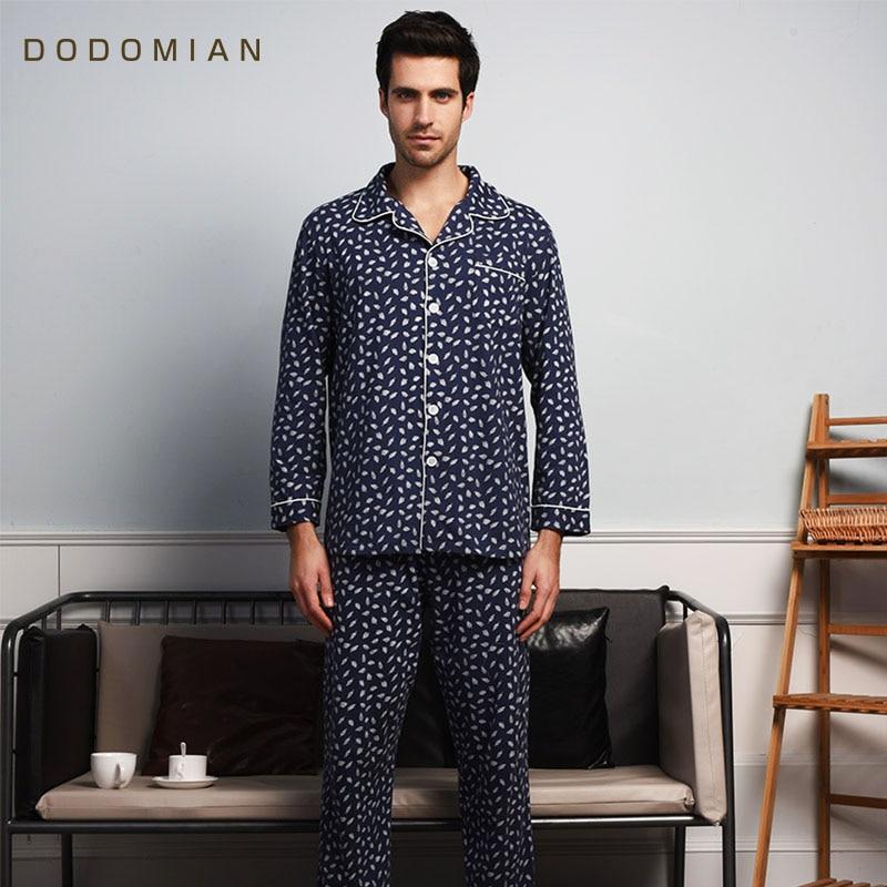 DO DO MIAN Men Sleepwears Pyjama Tracksuit Spring Summer Silk Nightie Male Pajamas Set Kigurumi Satin Pijamas Feminino Plus Size