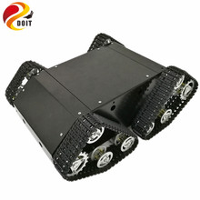 DOIT Black RC Tank VT-100 with Enclosed Space for Electrical Devices from Arduino Development Kit