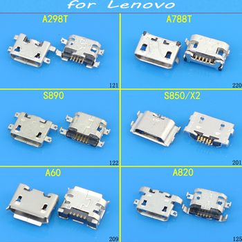 JCD Tablet Micro USB Sockect Micro USB 5Pin Jack Connector Port For lenovo A298T A788T S890 S850/X2 A60 A820 image