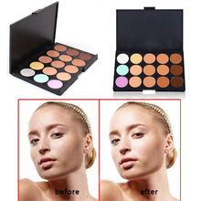 New Professional 15 Color Make Up Cream Camouflage Concealer Palette  Makeup Tools FATE
