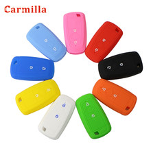 2 Button Silicone Rubber Key Fob Cover Case Set Hood for Ford EcoSport 2018 2019 Keyless Remote Protect Skin Cap Accessories(China)