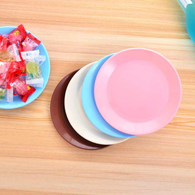 Japan Mini Round Plastic Plates for Snacks Fruit Sushi Plate 13cm Colorful Kitchen Party Dinner Lunch & Japan Mini Round Plastic Plates for Snacks Fruit Sushi Plate 13cm ...