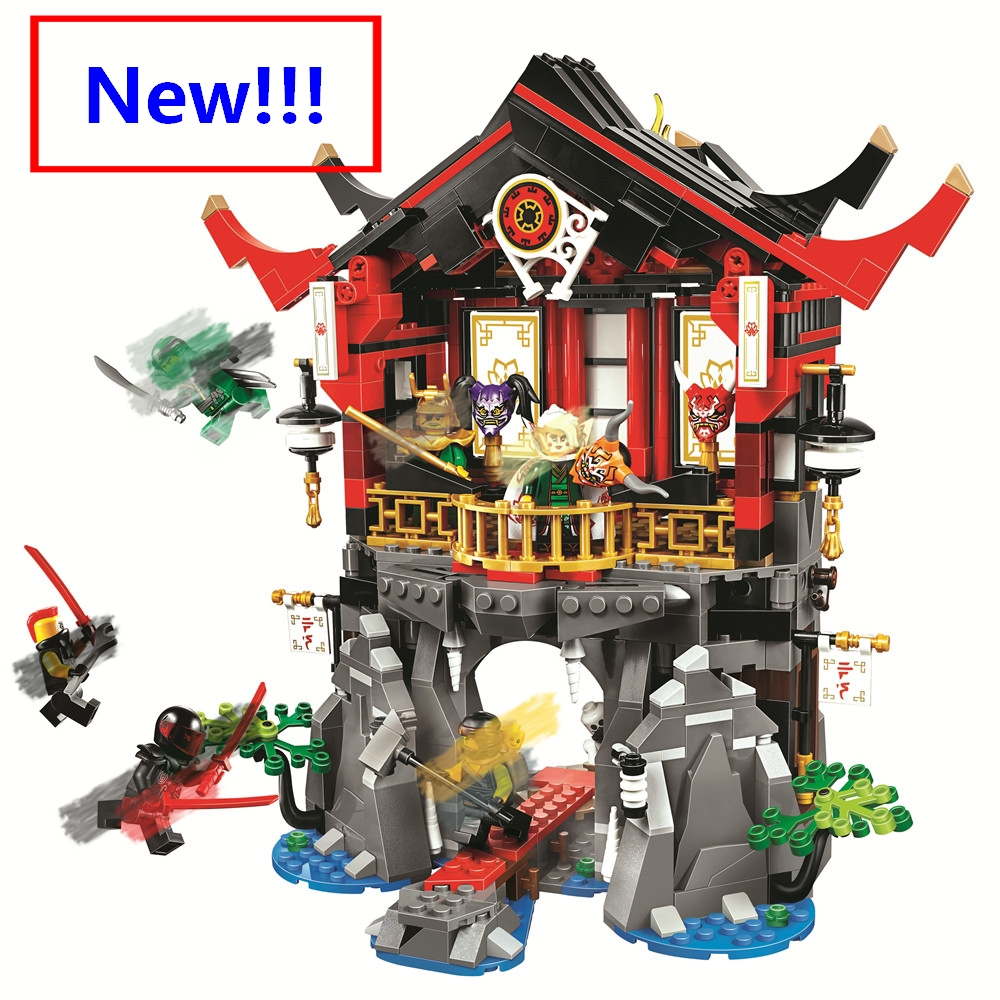 New The Temple of Resurrection kit Ninjago Model with ninja figures compatible with lego 70643 building blocks Toys For Children 890pcs new ninja lair invasion diy 10278 model building kit blocks children teenager toys brick movie games compatible with lego