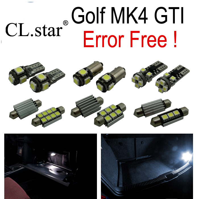 12 X Canbus No Error for Volkswagen VW GOLF 4 MK4 Jetta GTI  LED Interior light Kit  package (1999-2005) carprie super drop ship new 2 x canbus error free white t10 5 smd 5050 w5w 194 16 interior led bulbs mar713