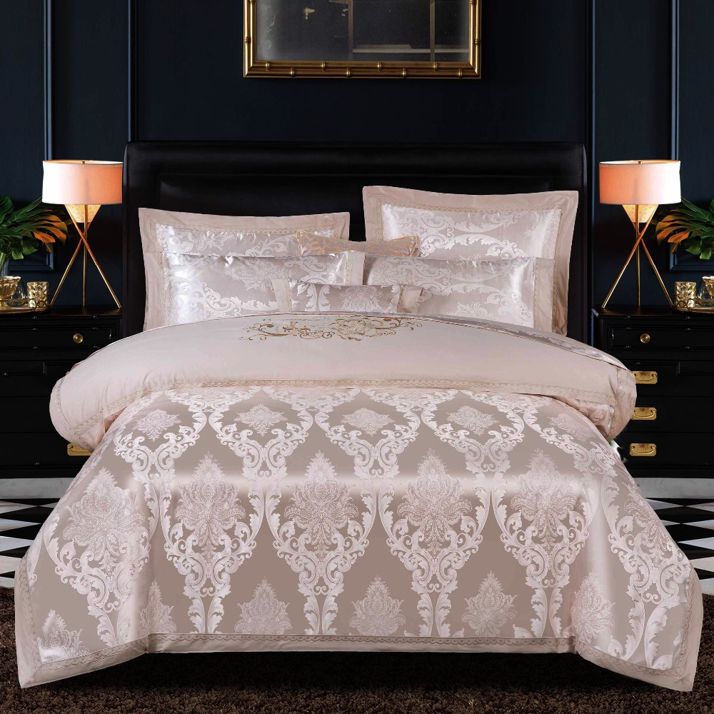 Home Textile A side 13372 Cotton B Side Modal Palace Style Bedding Set 4 Pcs Luxury Duvet Cover Set Flat Bedspread PillowcasesHome Textile A side 13372 Cotton B Side Modal Palace Style Bedding Set 4 Pcs Luxury Duvet Cover Set Flat Bedspread Pillowcases