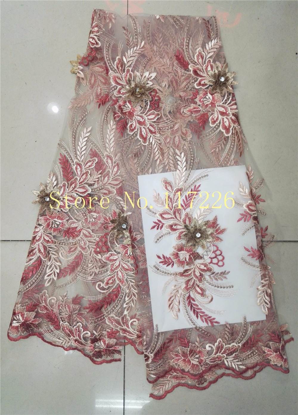 Free Shipping 3d Flowers Embroidery Designs Jrb 61913 High Quality