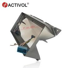Marco de placa frontal de Radio de coche HACTIVOL 2 Din para Suzuki Alto 2009-2013 reproductor de DVD de coche GPS kit de montaje en tablero para coche accesorio